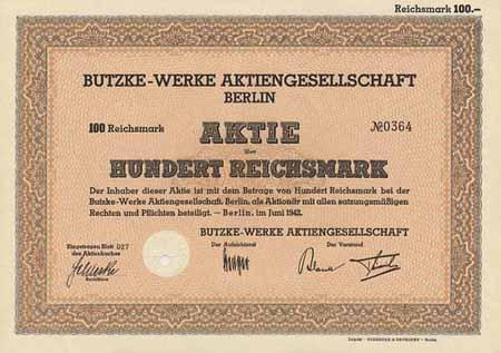 Butzke werke berlin historische wertpapiere aktien und anleihen aus dem reichsbankschatz u v m - Rotter armaturen ...